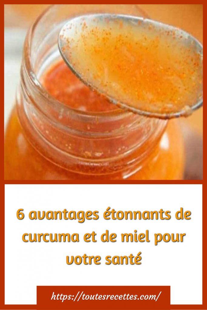6 avantages étonnants de curcuma et de miel pour votre santé