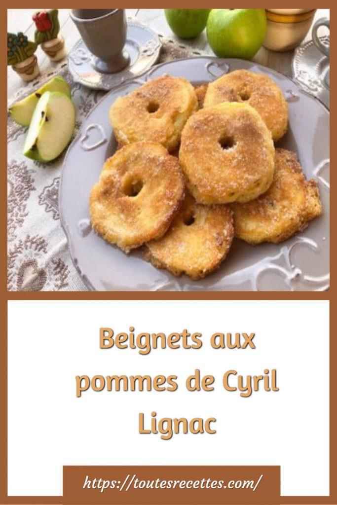 Comment préparer les Beignets aux pommes de Cyril Lignac