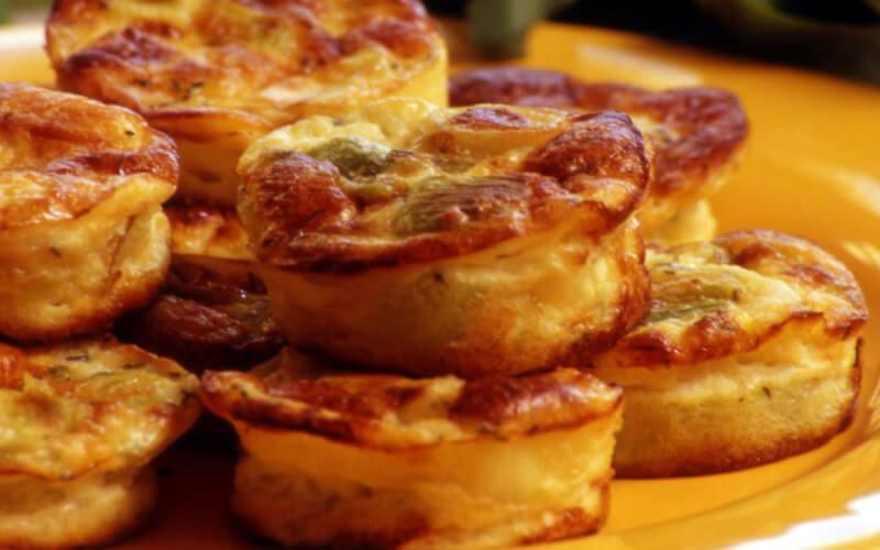 Bouchées aux poireaux et parmesan apéritif parfait
