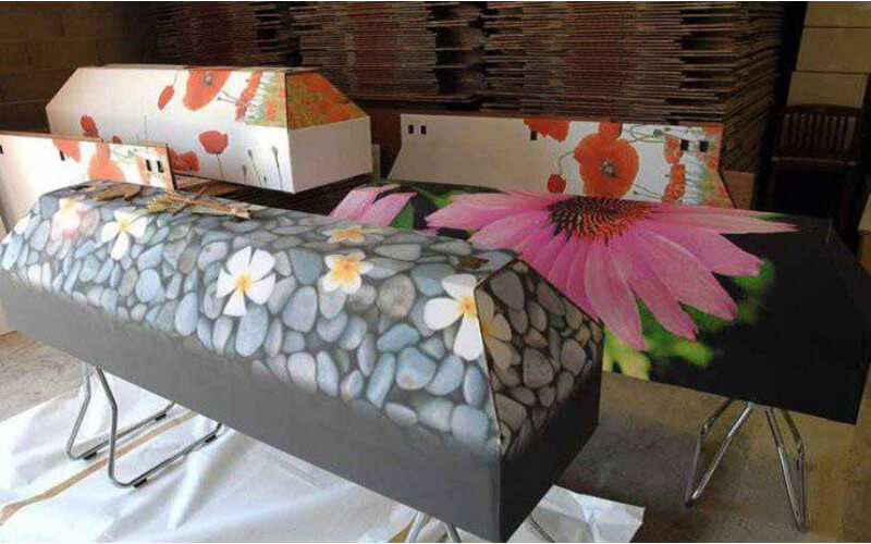 Cercueil en carton écologique et économique écoresponsable