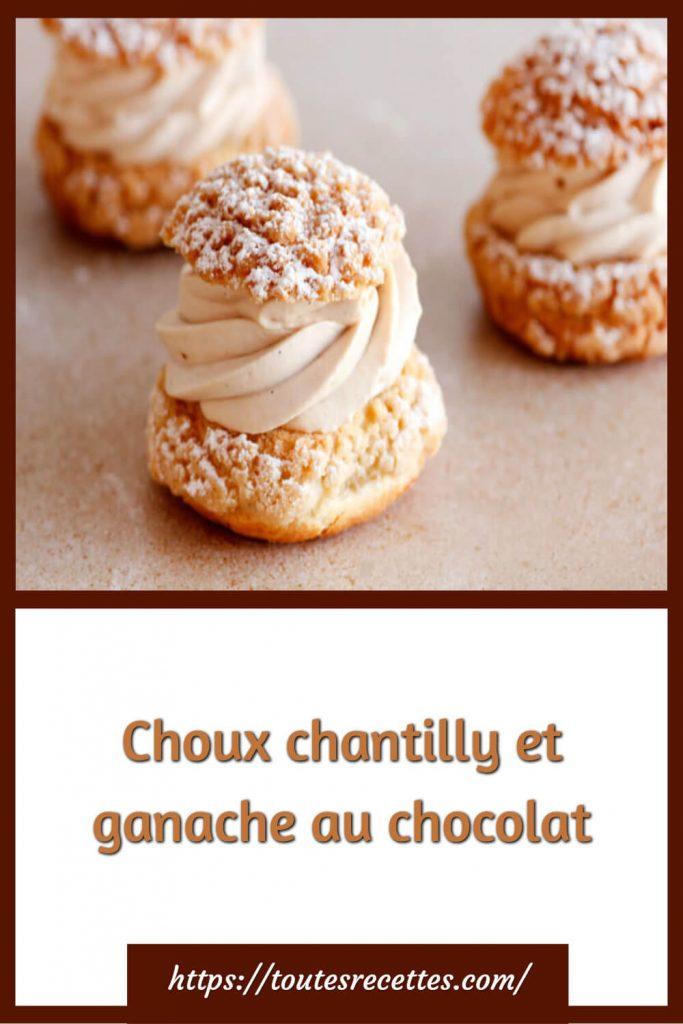 Comment préparer les Choux chantilly et ganache au chocolat