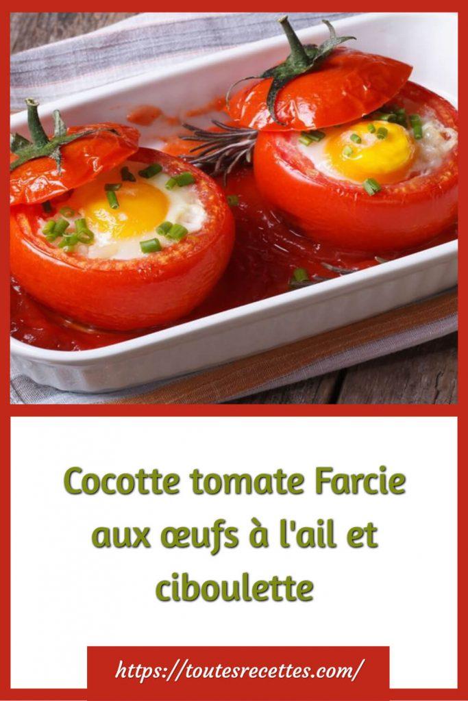 CommentpréparerCocotte tomate Farcie aux œufs à l'ail et ciboulette