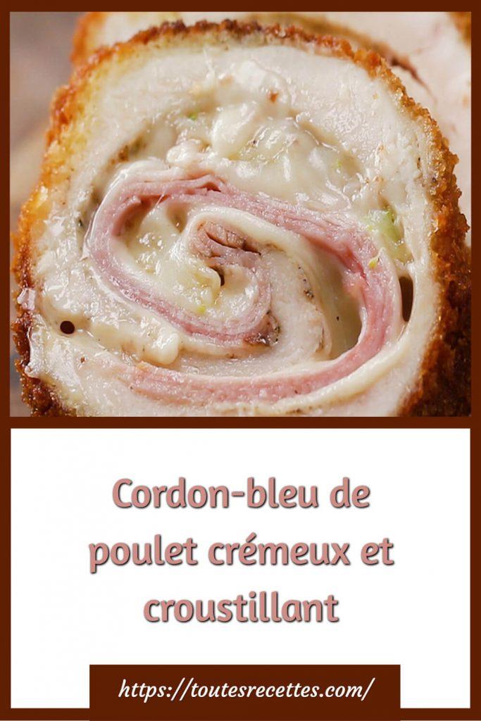 Comment préparer le Cordon-bleu de poulet crémeux et croustillant