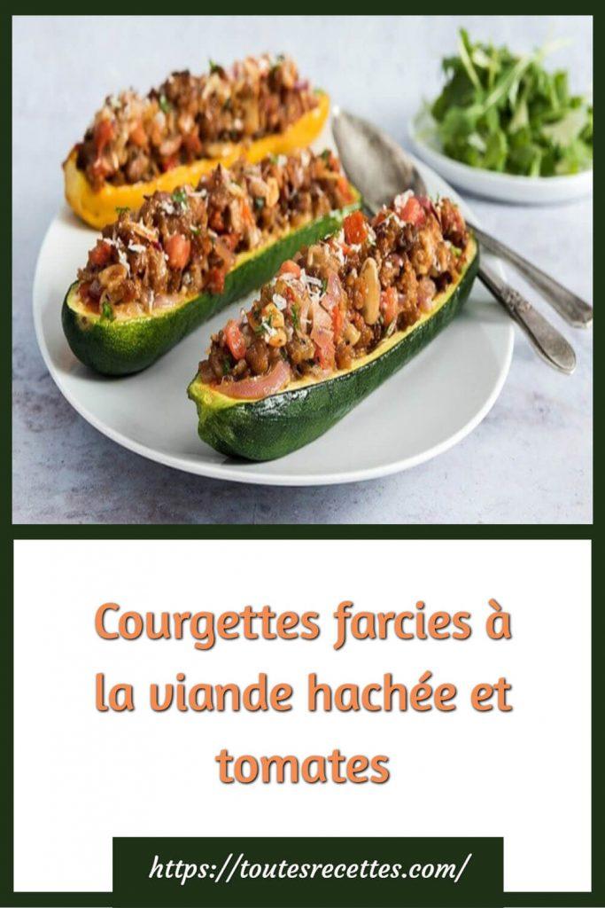 Comment préparer les Courgettes farcies à la viande hachée et tomates