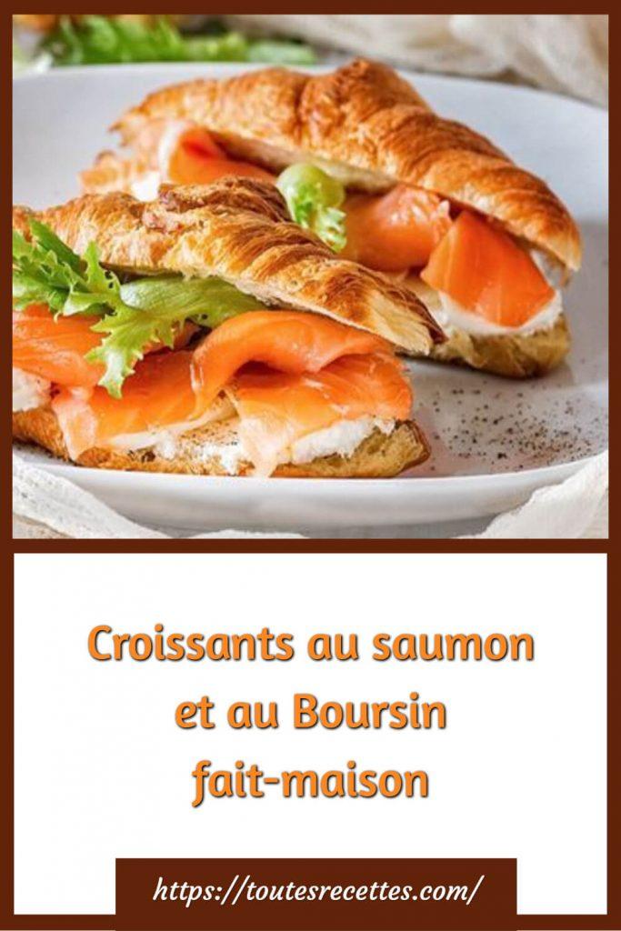 Comment préparer les Croissants au saumon et au Boursin fait-maison