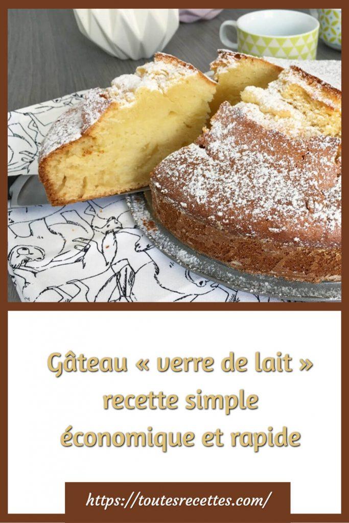 Comment préparer le Gâteau « verre de lait » recette simple économique et rapide