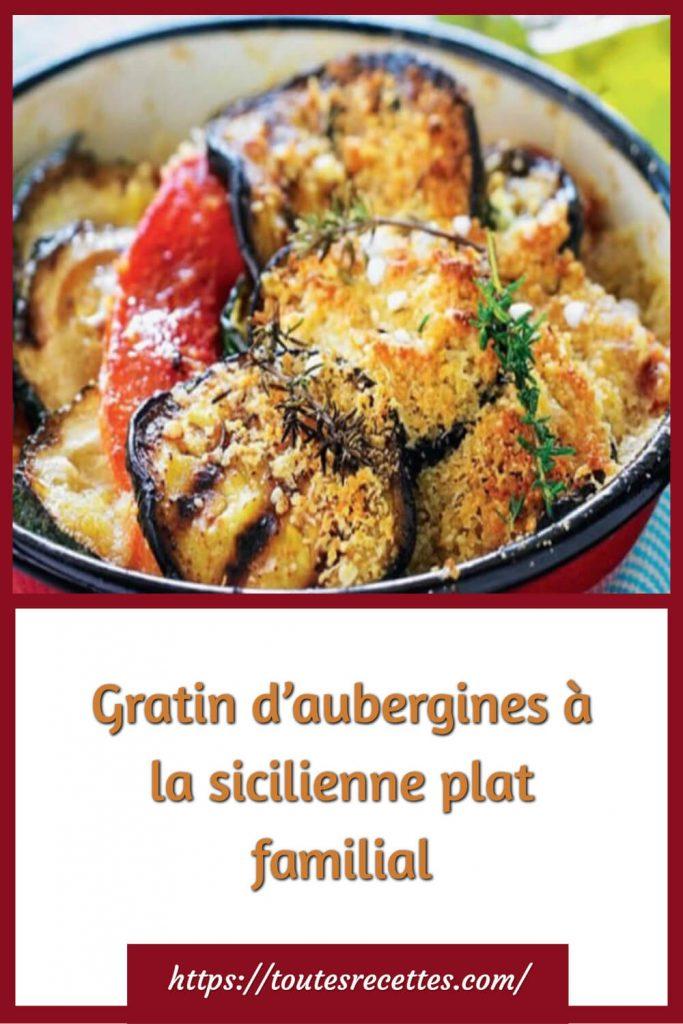 Comment préparer le Gratin d'aubergines à la sicilienne