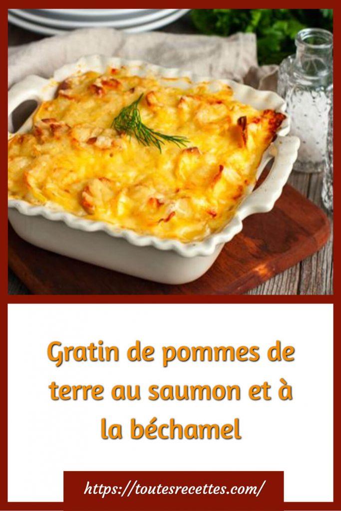 Comment préparer le Gratin de pommes de terre au saumon et à la béchamel