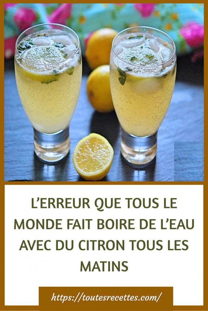 Comment préparer l'eau citronnée convenablement