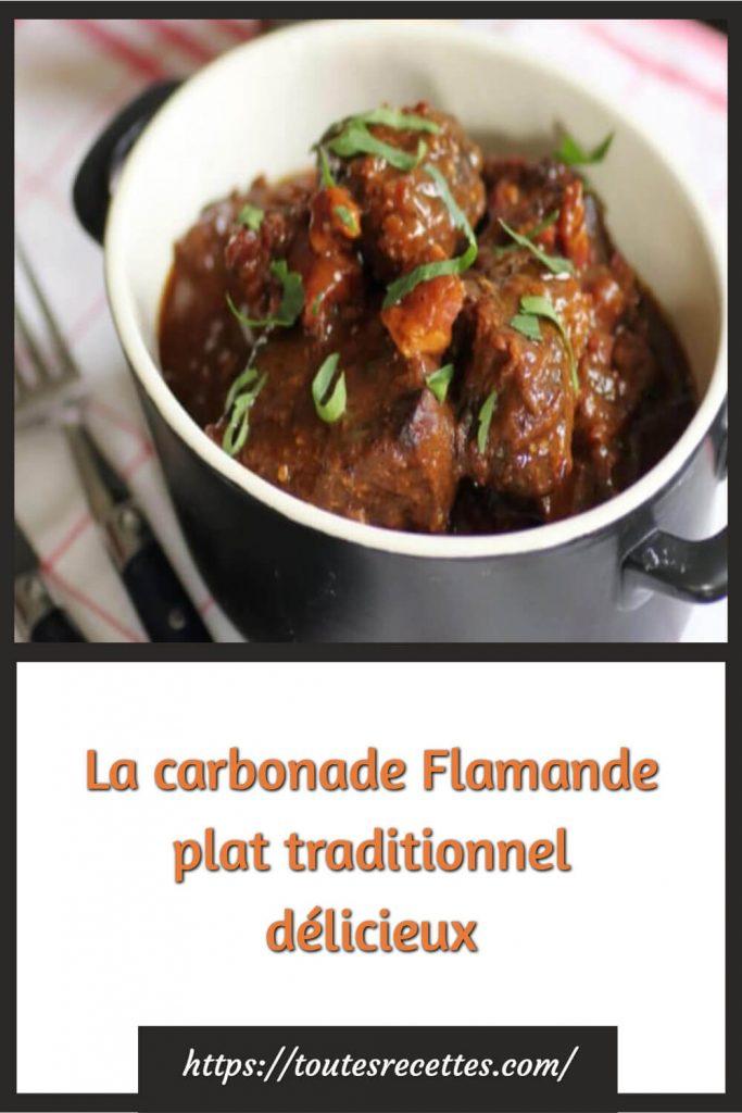 Comment préparer La carbonade Flamande plat traditionnel