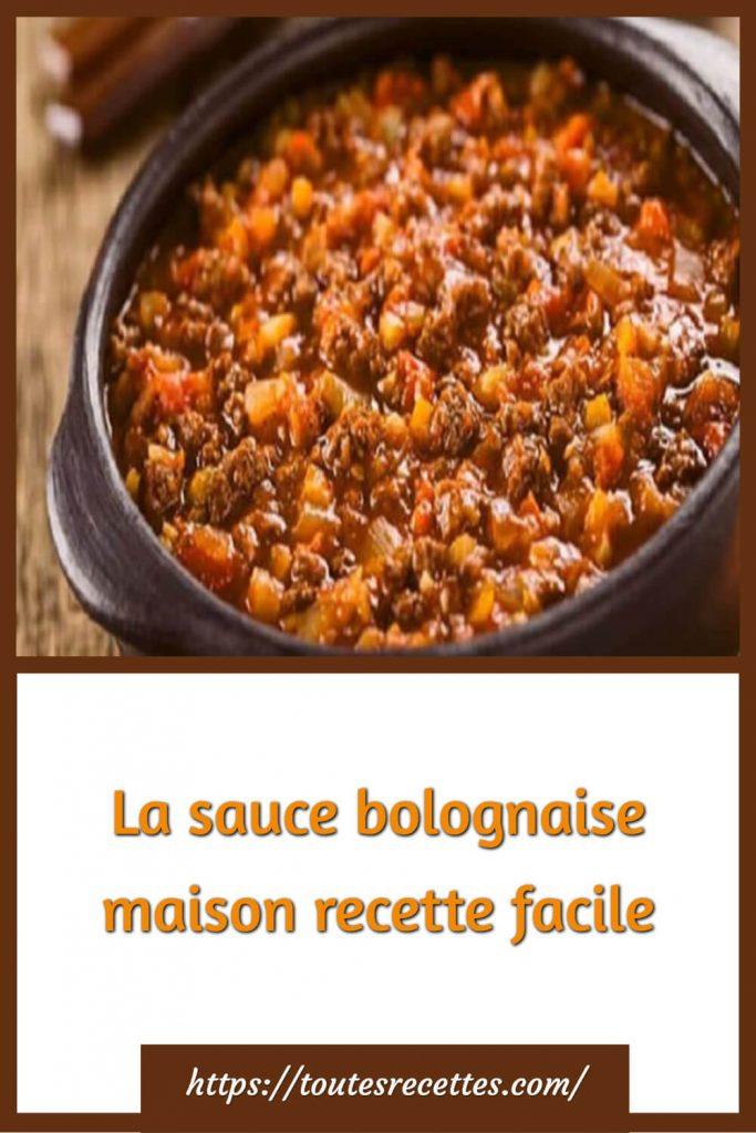 Comment préparer La sauce bolognaise maison recette facile