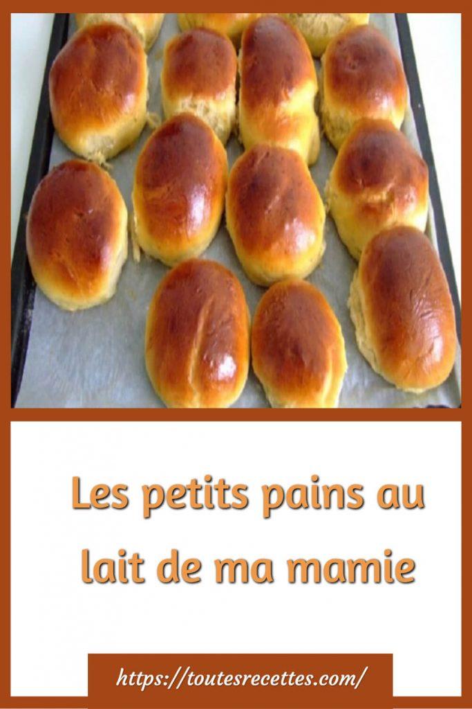 Comment préparerLes petits pains au lait de ma mamie