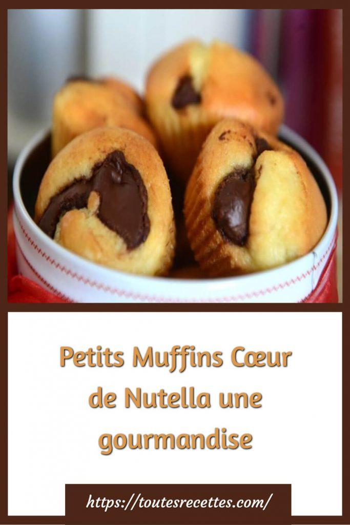 Comment préparer les Petits Muffins Cœur de Nutella