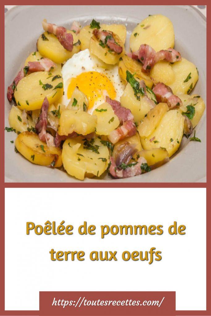 Comment préparer la Poêlée de pommes de terre aux oeufs