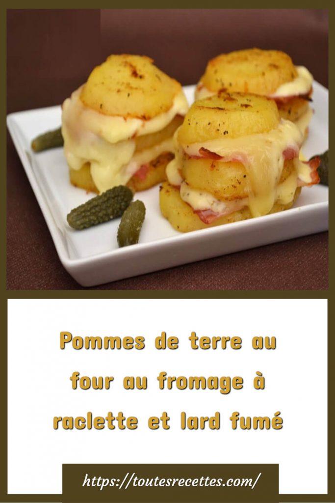 Comment préparer les Pommes de terre au fromage à raclette et lard fumé