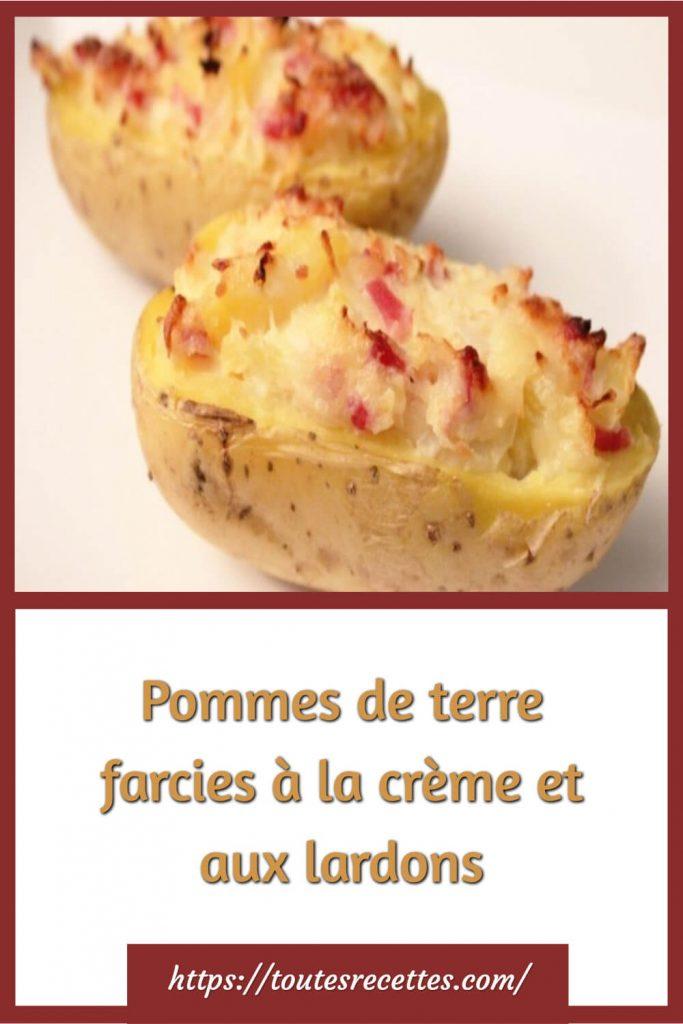 Comment préparer les Pommes de terre farcies à la crème et aux lardons