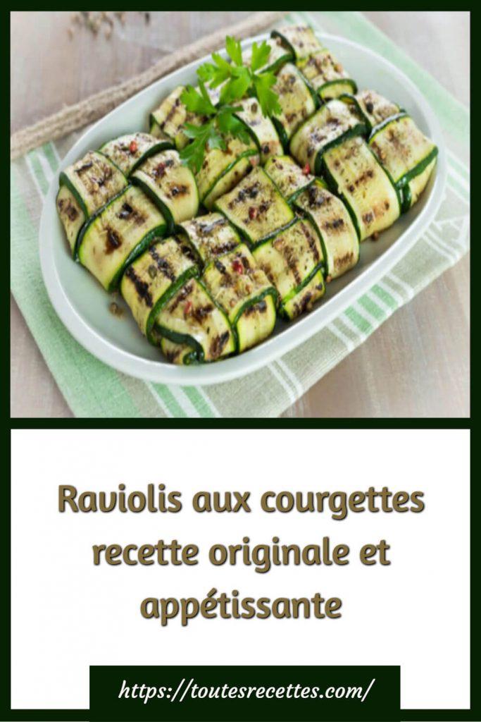 Comment préparerles Raviolis aux courgettes