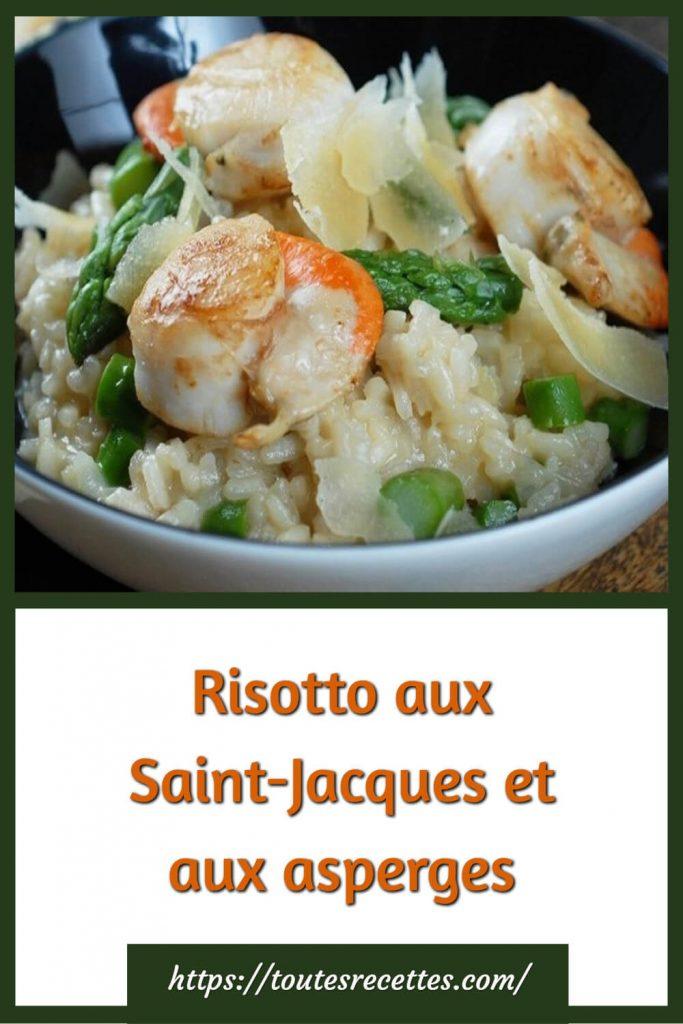 Comment préparer le Risotto aux Saint-Jacques et aux asperges