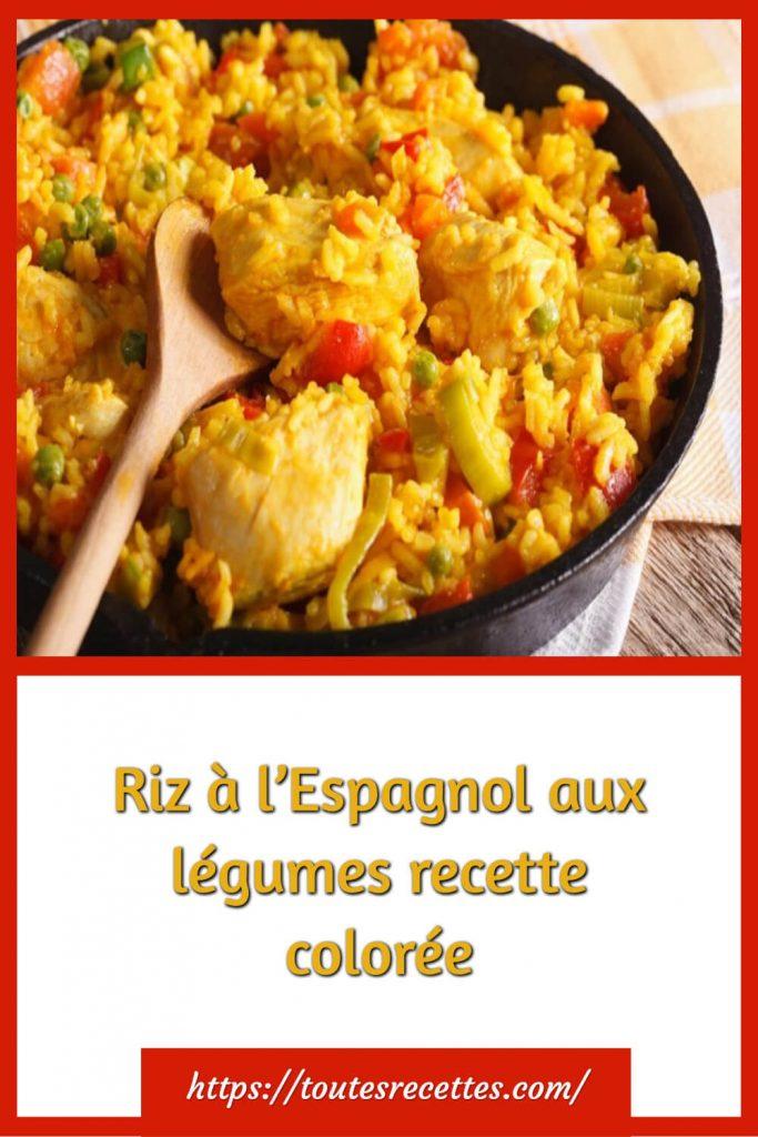 Comment préparer le Riz à l'Espagnol aux légumes