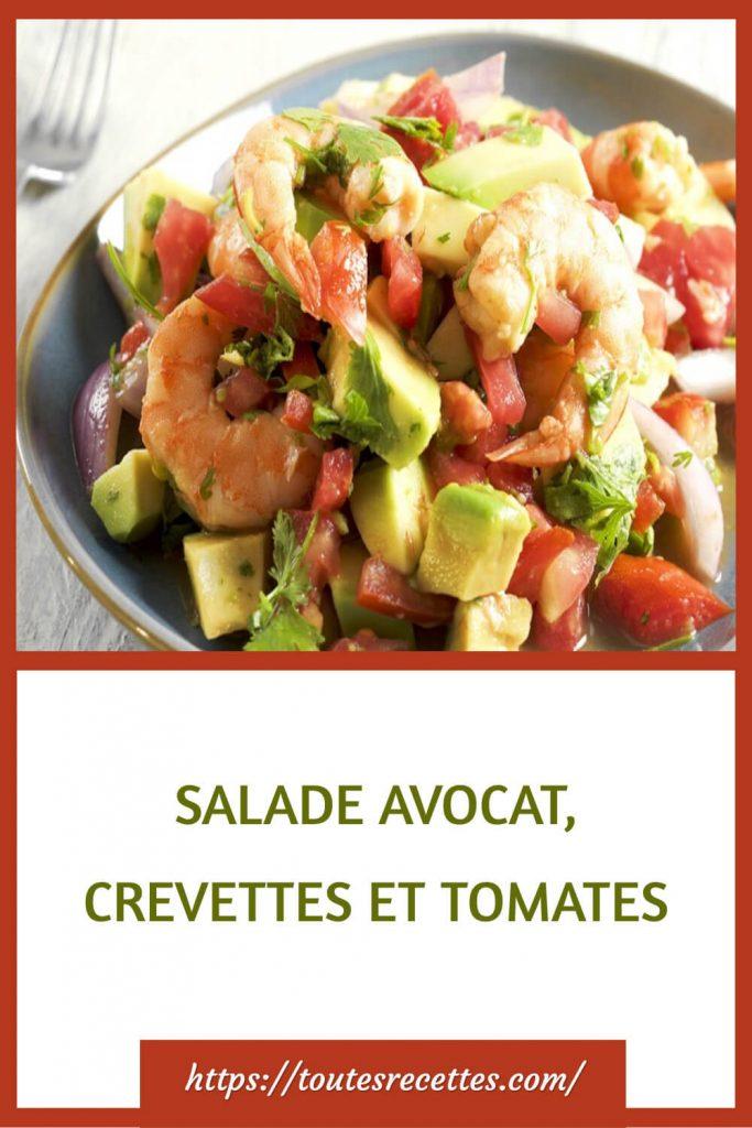 Comment préparer la Salade d'avocats, crevettes et tomates
