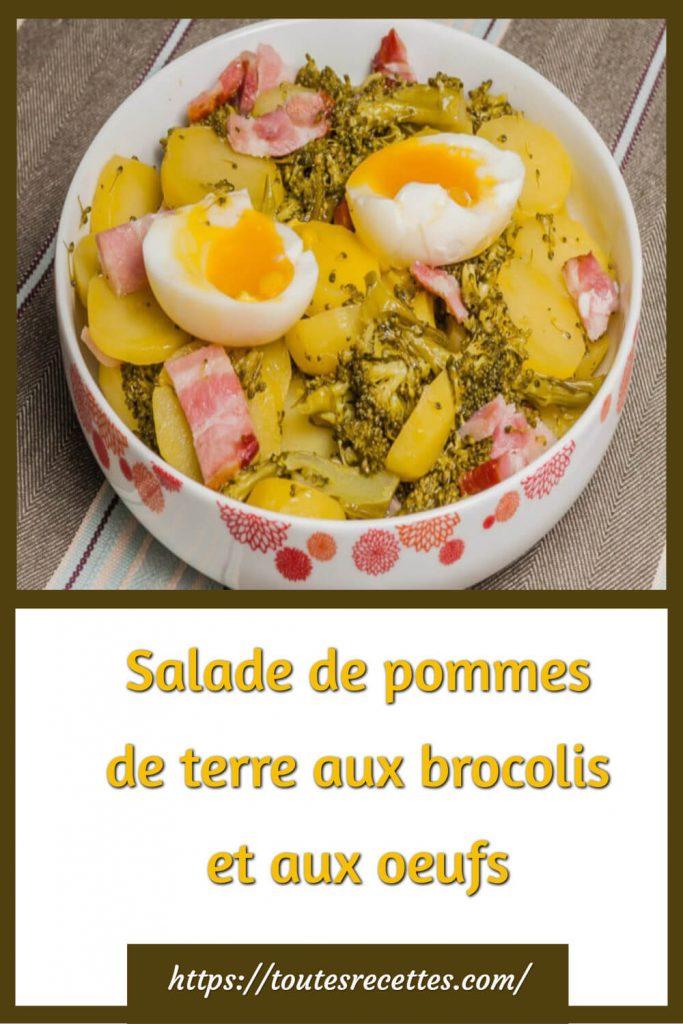Comment préparer la Salade de pommes de terre aux brocolis et aux oeufs