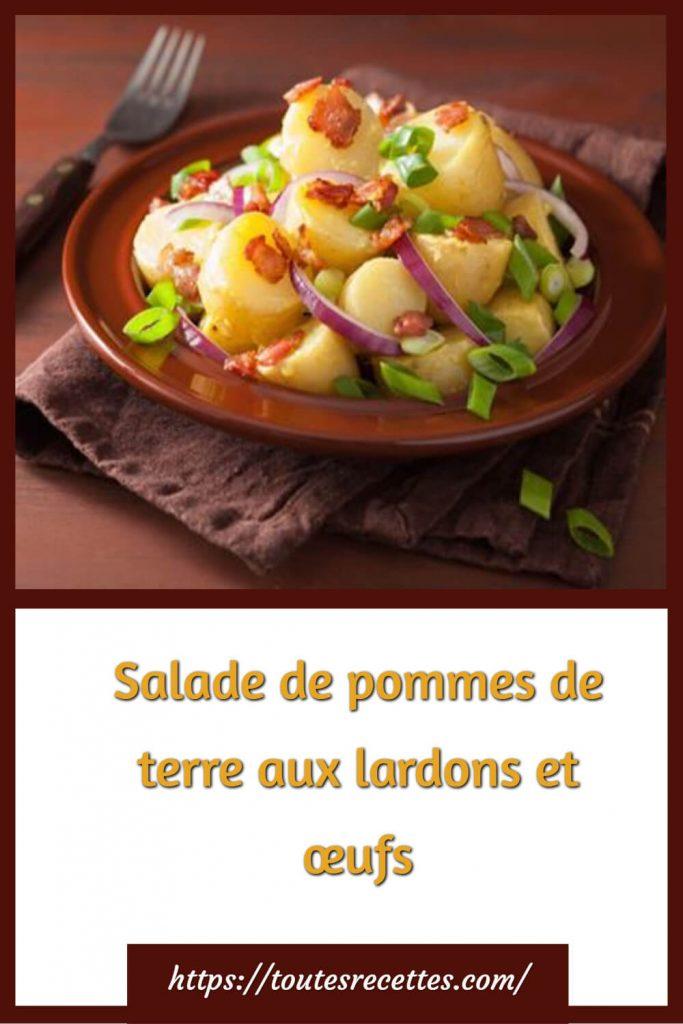 Comment préparer la Salade de pommes de terre aux lardons et œufs