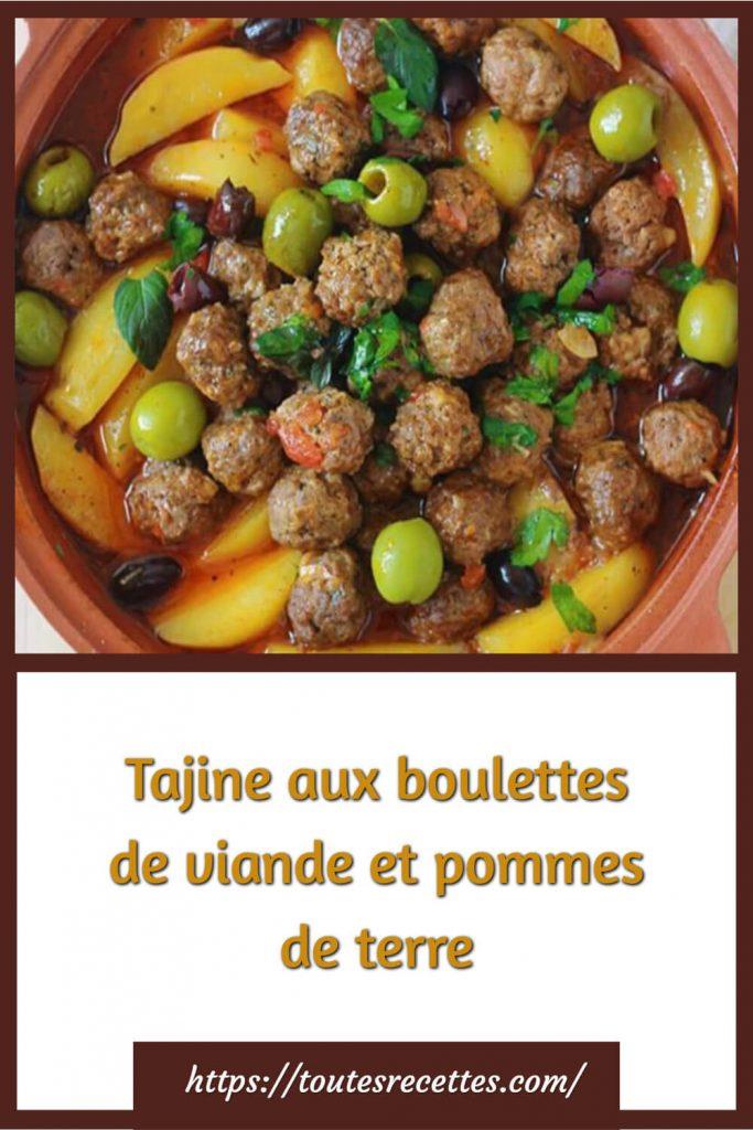 Comment préparer le Tajine aux boulettes de viande et pommes de terre