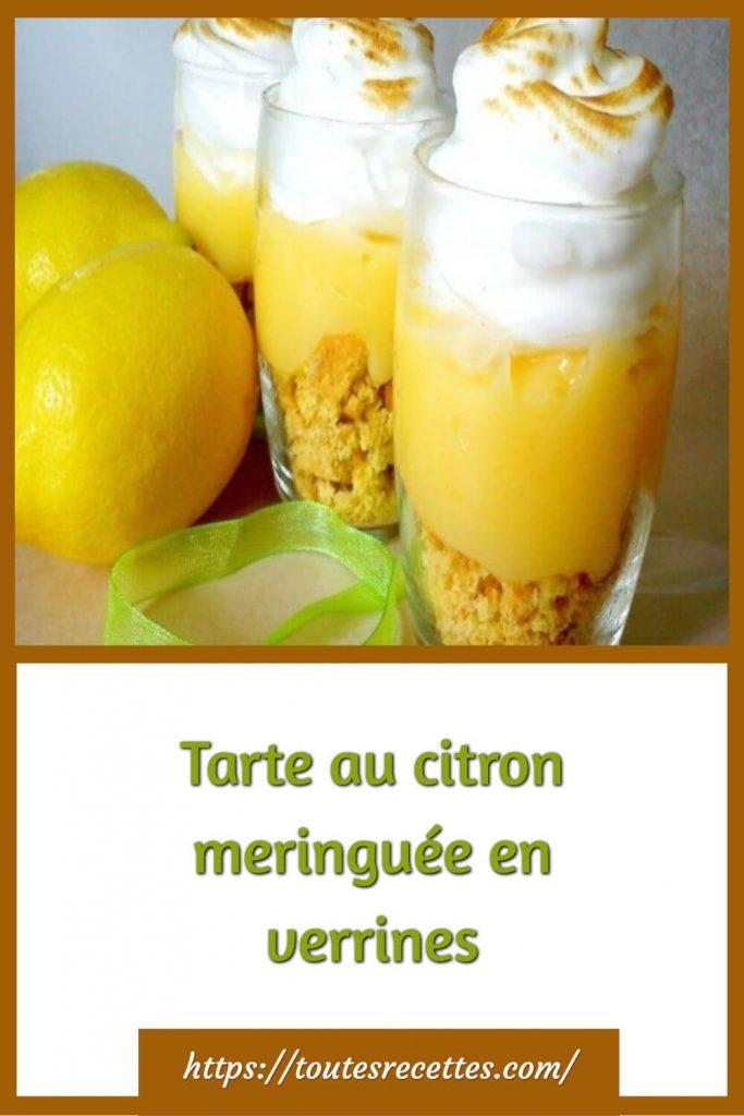 Comment préparer laTarte au citron meringuée en verrines