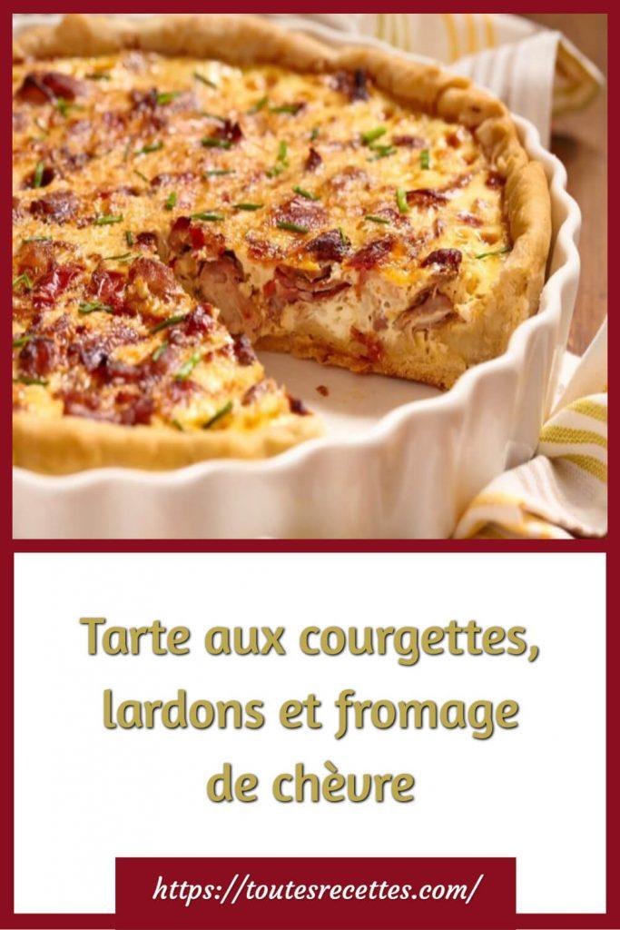 Comment préparer la Tarte aux courgettes, lardons et fromage de chèvre