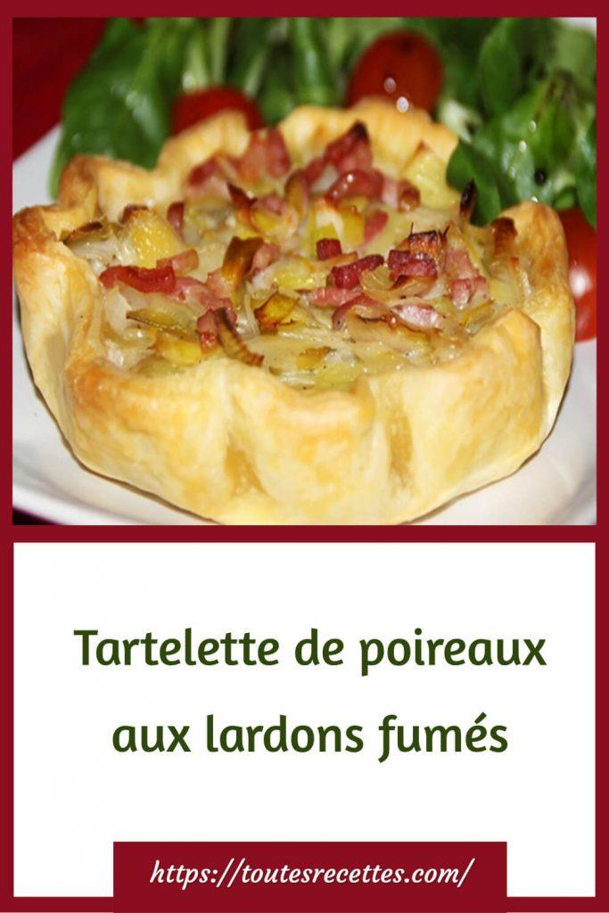 Comment préparer les Tartelettes de poireaux aux lardons fumés