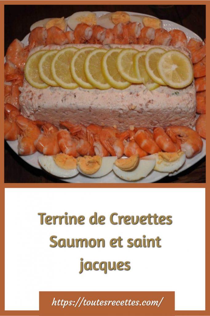 Comment préparer la Terrine de Crevettes Saumon et saint jacques