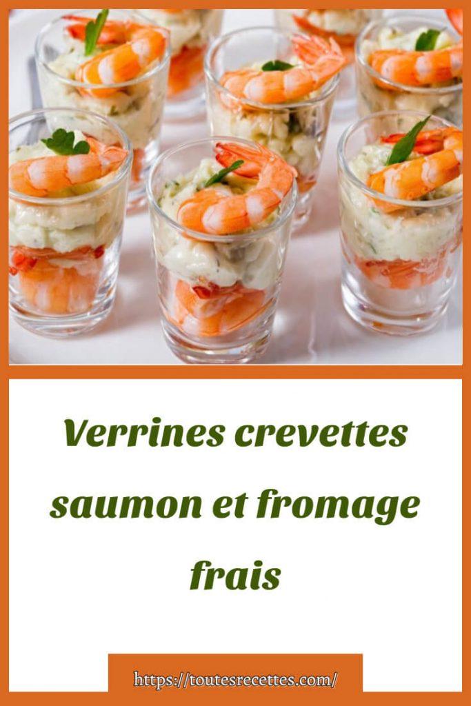 Comment préparer les Verrines crevettes saumon et fromage frais