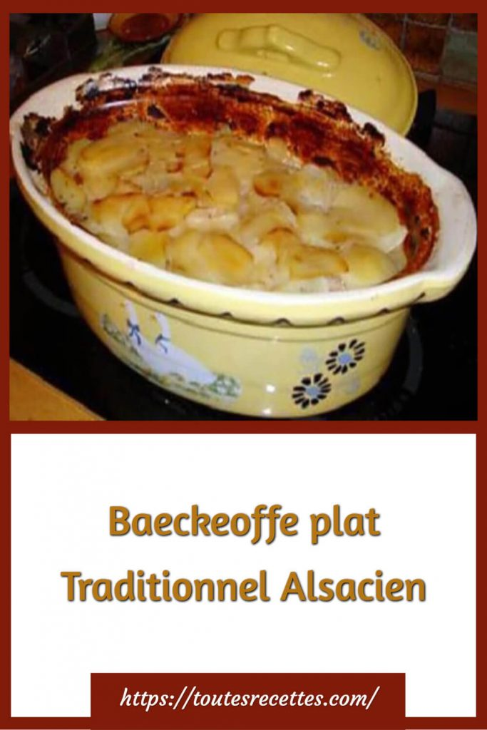 Comment préparer le Baeckeoffe plat Traditionnel Alsacien