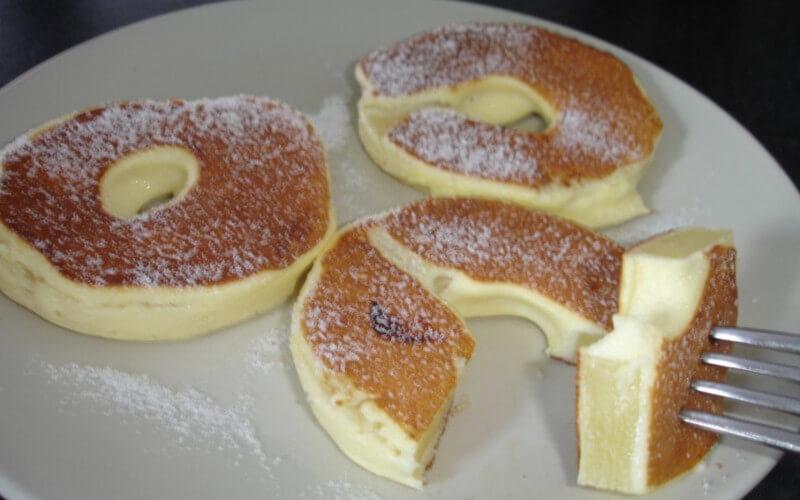 Beignets sans gras à l'ananas et fromage blanc