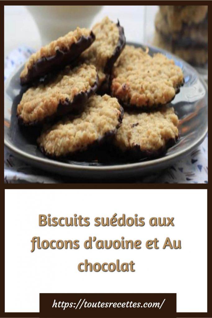 Comment préparer les Biscuits suédois aux flocons d'avoine et Au chocolat