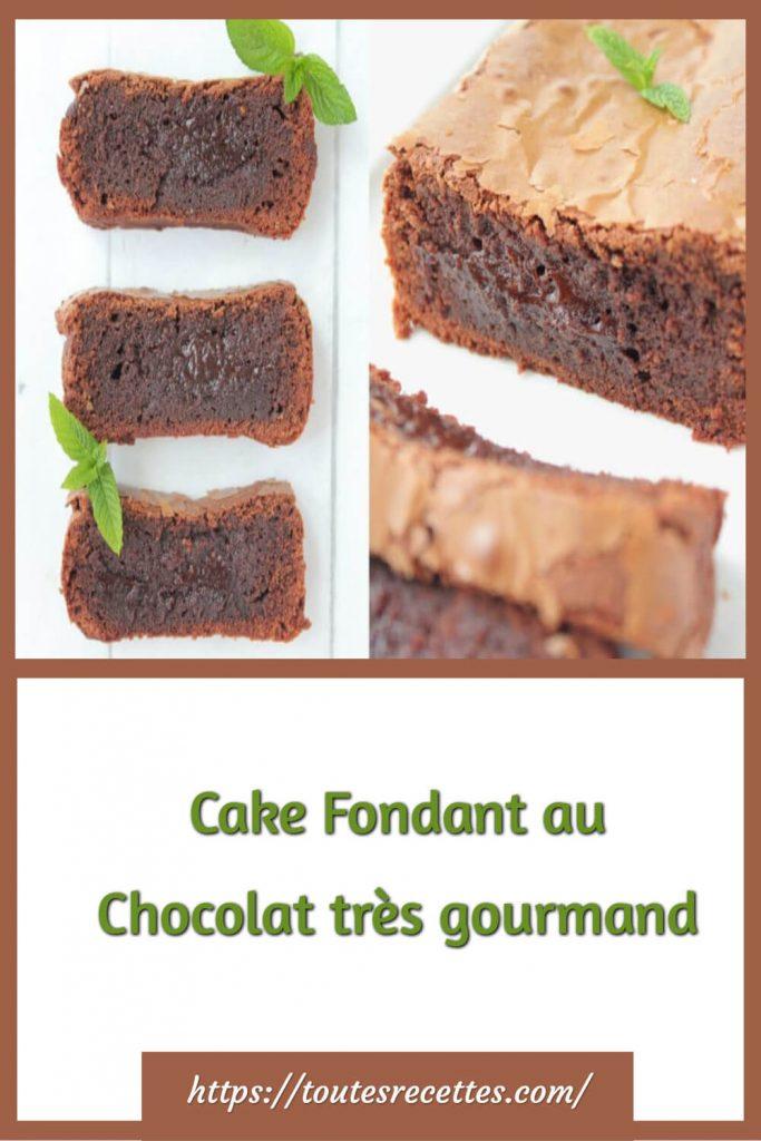 Comment préparer le Cake Fondant au Chocolat