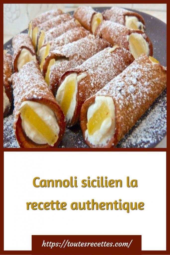 Comment préparer le Cannoli sicilien