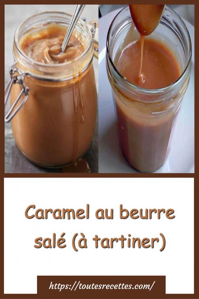 Comment préparer le Caramel au beurre salé (à tartiner)