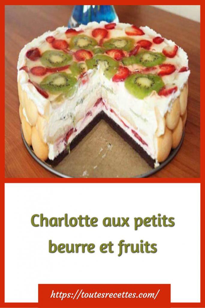 Comment préparer la Charlotte aux petits beurre et fruits