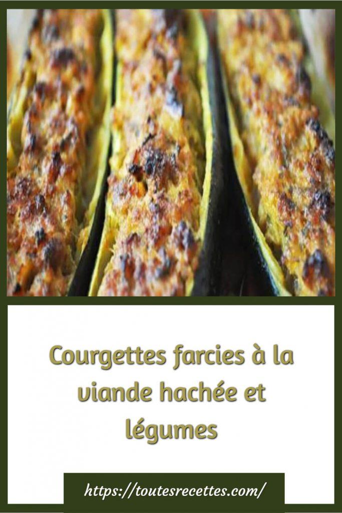 Comment préparer les Courgettes farcies à la viande hachée et légumes