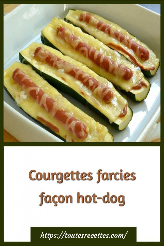 Comment préparer les Courgettes farcies façon hot-dog
