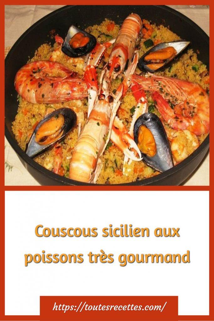 Comment préparer le Couscous sicilien aux poissons