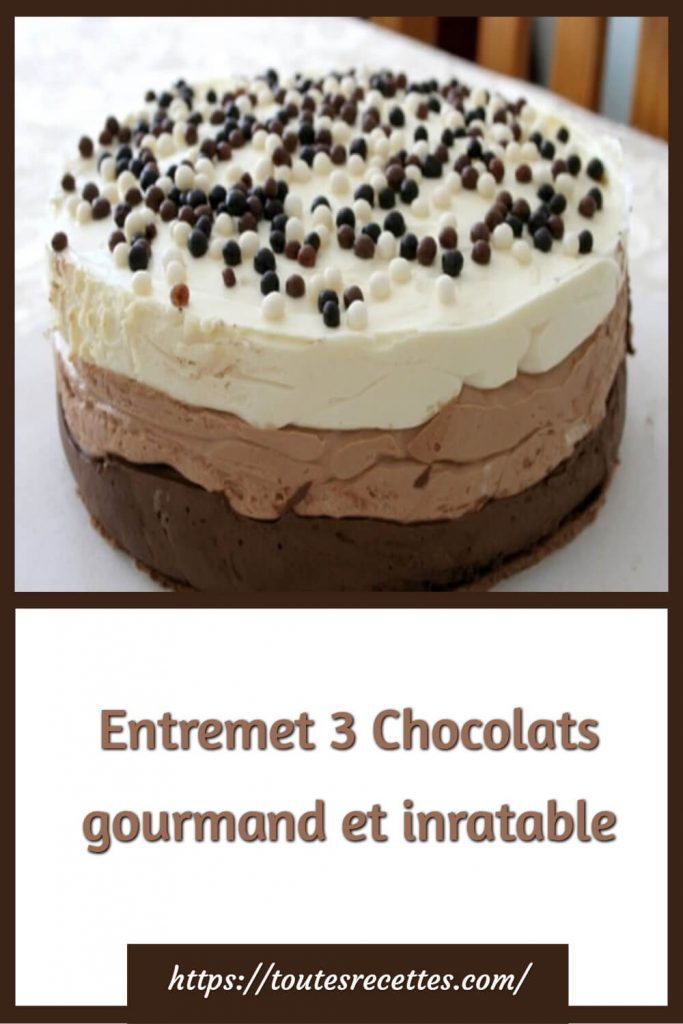Comment préparer le Entremet 3 Chocolats gourmand et inratable