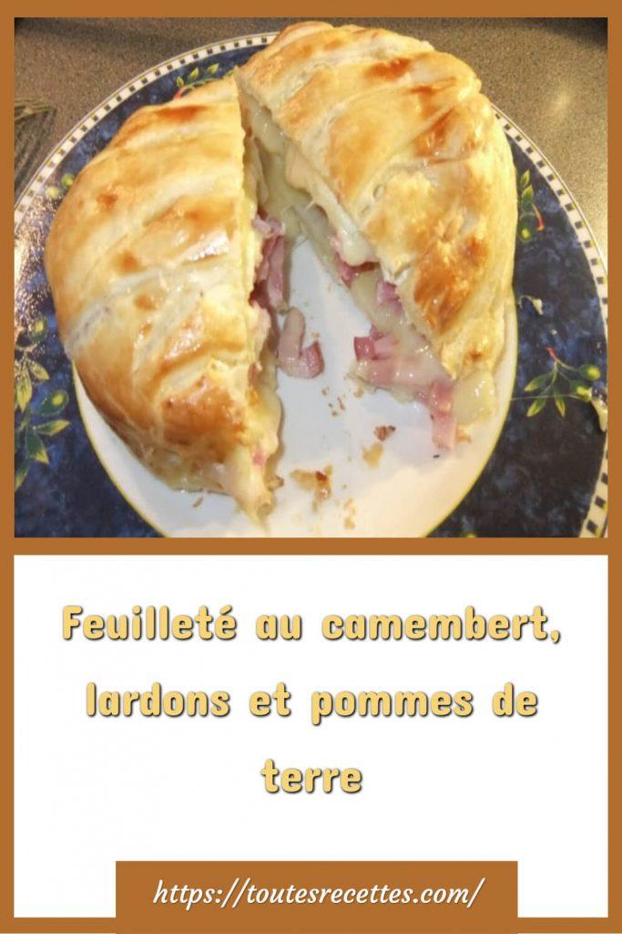 Comment préparer le Feuilleté au camembert, lardons et pommes de terre