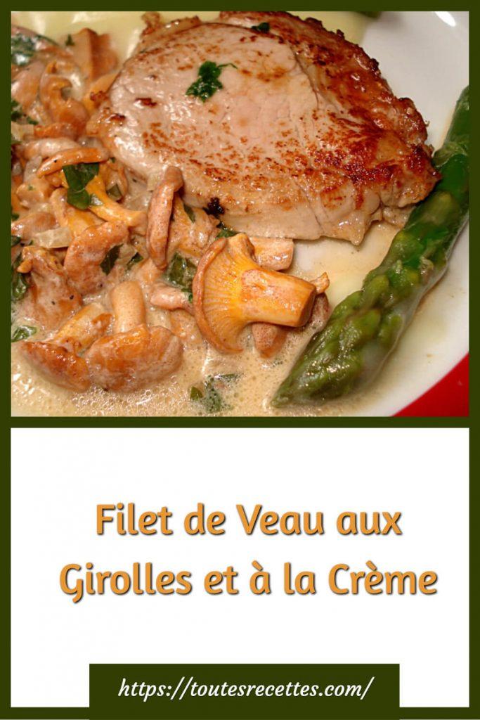 Comment préparer le Filet de Veau aux Girolles et à la Crème