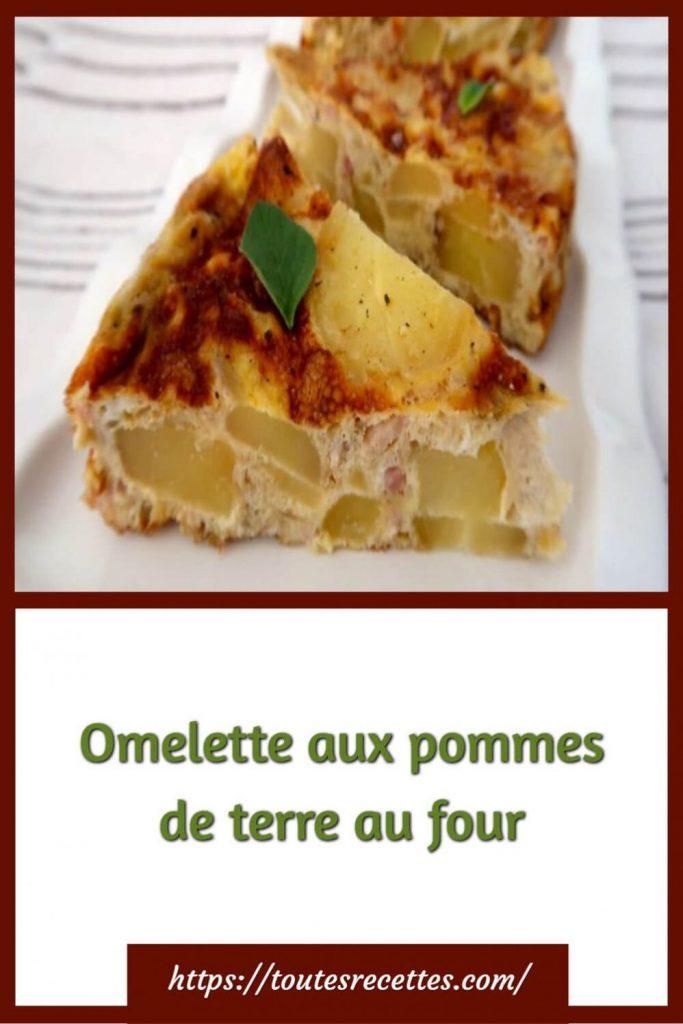Comment préparer l'Omelette aux pommes de terre au four