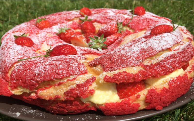 Paris-Brest aux fraises dessert original