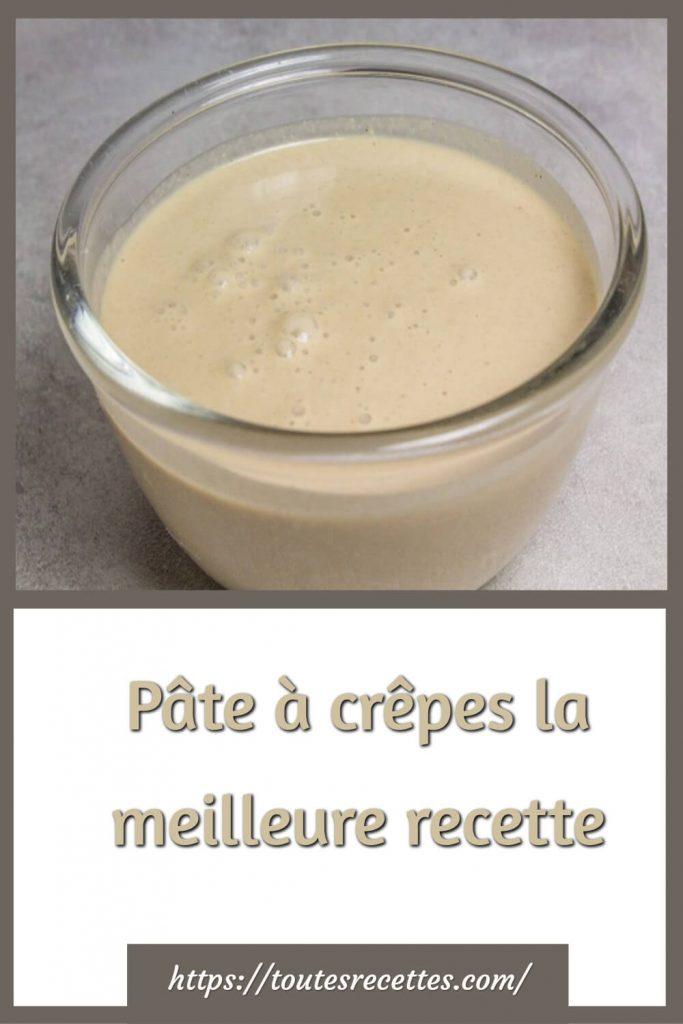 Comment préparer La meilleure recette de la Pâte à crêpes
