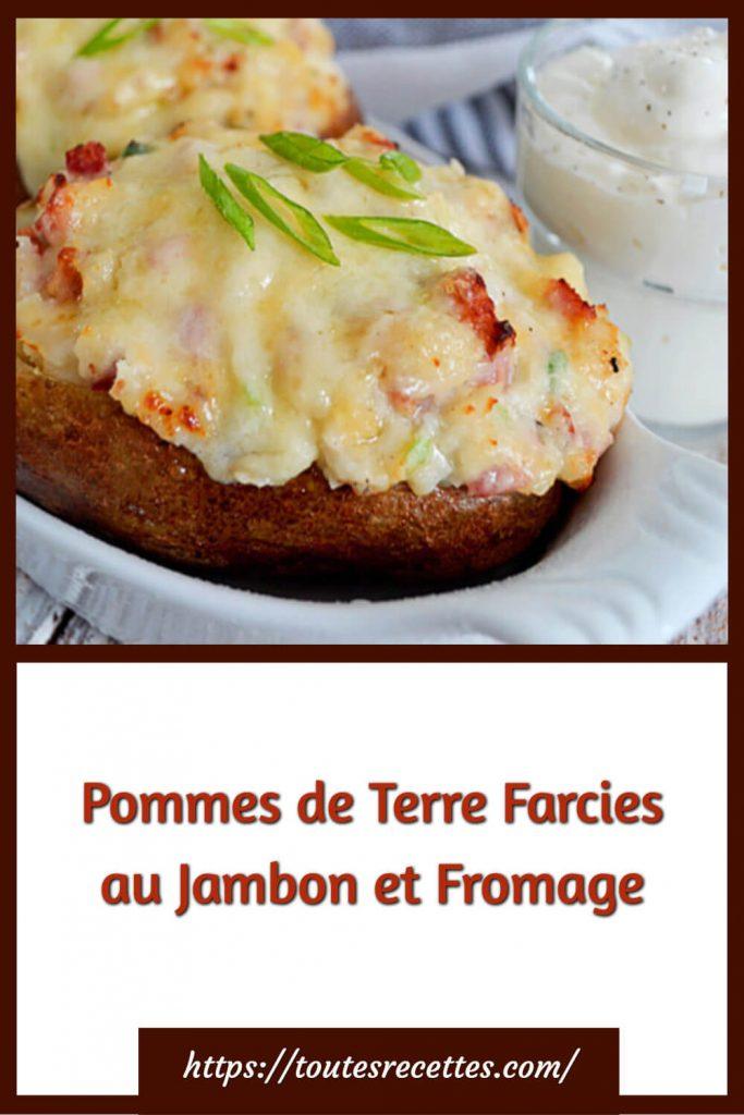Comment préparer les Pommes de Terre Farcies au Jambon et Fromage