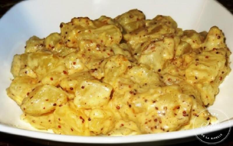Pommes de terre à la crème et moutarde